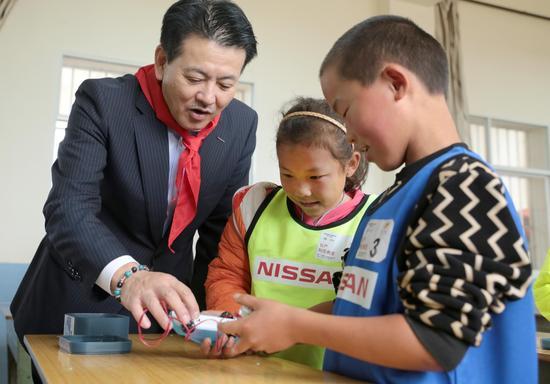 日产环保教室在鸭子塘小学开启第一课