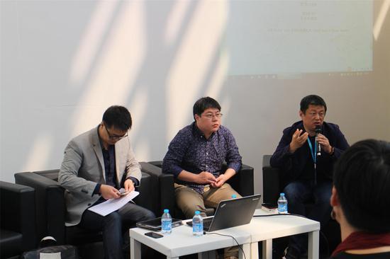 青年艺术学院讲座:解析青年艺术市场(左起artnet亚洲区首席代表、AMRC执行总监马学东、中央美术学院教授赵力)