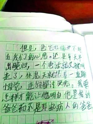 网上热传的8岁男孩作文