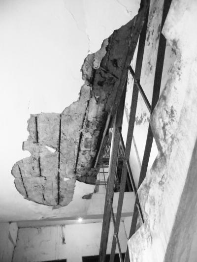 楼道钢筋裸露腐蚀