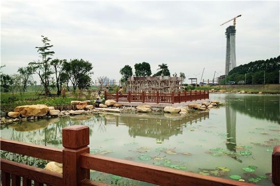都市里的诗意栖息:半月岛湿地公园即将开放_佛山频道