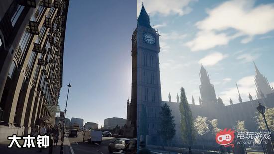 刺客信条枭雄现实伦敦和游戏中对比
