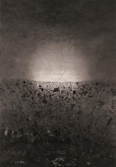 陆春涛,荷塘·2015No.059,120×84cm,纸本水墨,2015