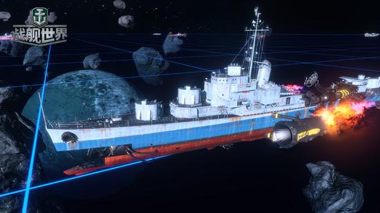 宇宙战舰驱逐舰装有电磁鱼雷发射架