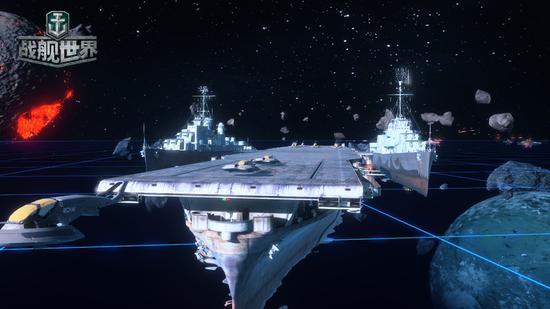 宇宙战舰航空母舰装有未来舰载机