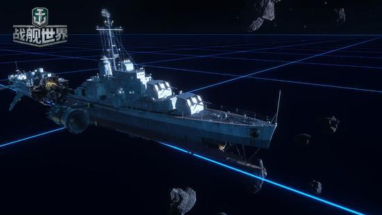 星际战舰漂浮在宇宙之中
