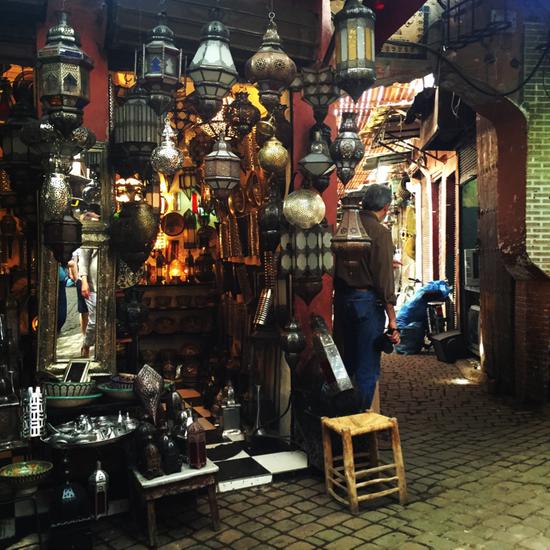 马拉喀什的灯具店