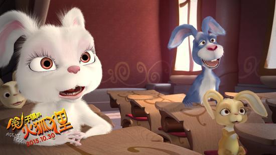 呆萌卡通图片手绘兔子