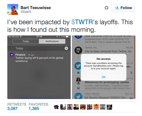Twitter裁员 硅谷应该打个寒战