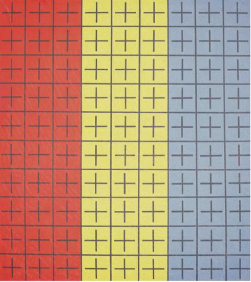丁乙《十示I》 1988 布面丙烯 200 x 180 cm