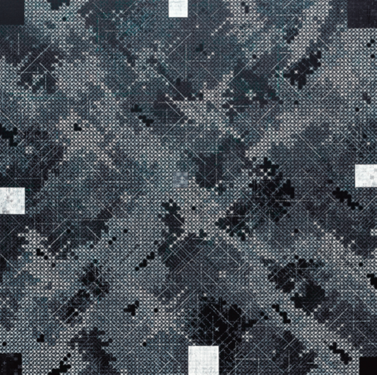 丁乙《十示2011-4》,布面丙烯,300 x 300