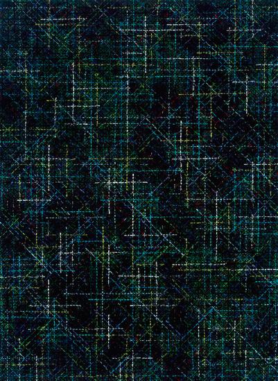 丁乙《十示 2014-5》,布上丙烯,200 x 140cm,2014年