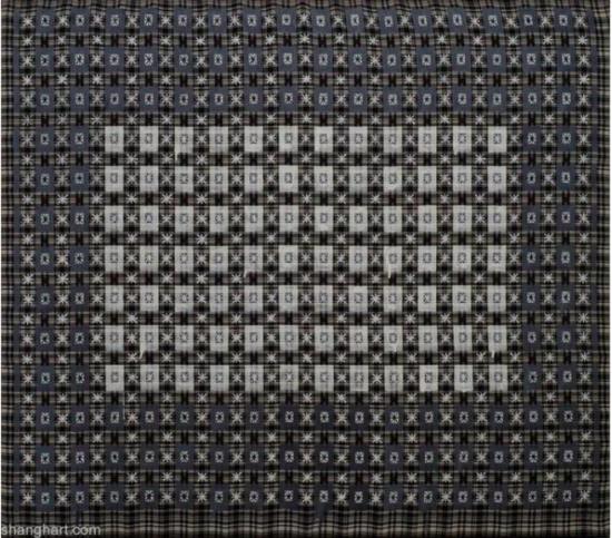 丁乙《十示97-23》,成品布上丙烯,140 x 160 cm