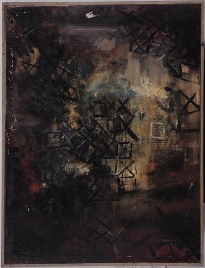 丁乙《破祭》布面油画,123 x 93 cm,1985年