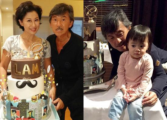 左为林子祥与妻子叶倩文,右为林子祥与外孙女
