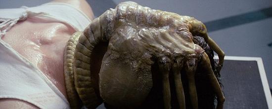 """一些UFO爱好者表示,火星上的这只""""抱脸虫螃蟹""""很像1979年电影《异形》中出现的抱脸虫怪物。另一些人则称,这是一只""""外星蜘蛛""""。"""