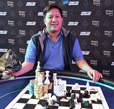 肯尼・洪,美国工作扑克玩家,博得第二届国象扑克锦标赛和奖金1800欧元