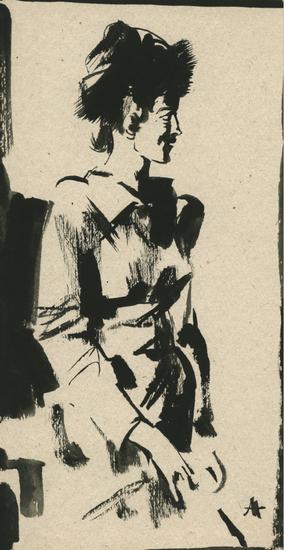 安德烈·安德烈耶维奇·梅尔尼科夫 《,小稿》24.5x13cm1996年