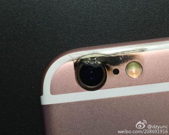 网曝iPhone 6s发生爆炸:摄像头烧焦变形