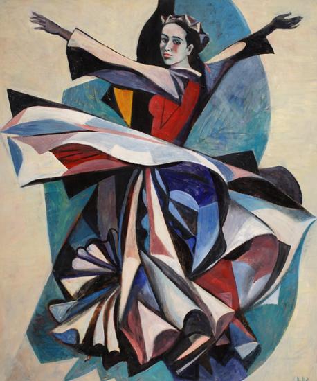 薇拉·安德烈耶夫娜·梅尔尼科娃《舞者(左部)》120x100cm2010年