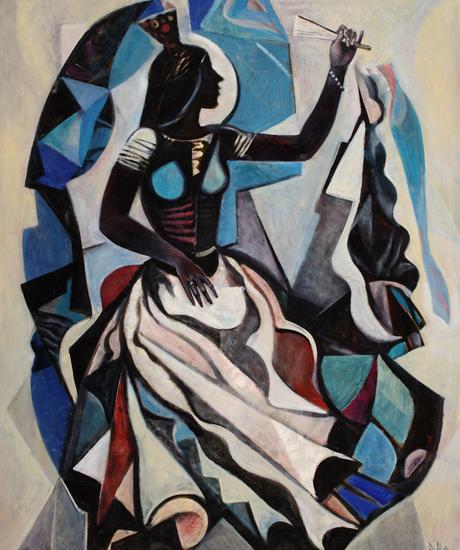 薇拉·安德烈耶夫娜·梅尔尼科娃《舞者(右部)布面油画120x100cm2010年