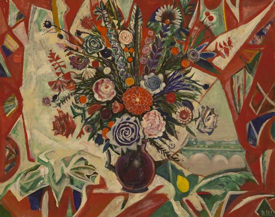 薇拉·安德烈耶夫娜·梅尔尼科娃《窗前的花》70x90cm2007年布面油画