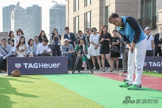 TAG Heuer泰格豪雅品牌挚友、华裔网球传奇张德培应战高尔夫球挑战