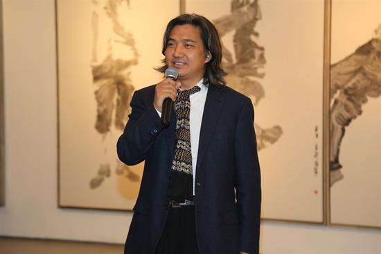 中国美术家协会副主席,中国美术馆馆长,吴为山教授致开幕辞
