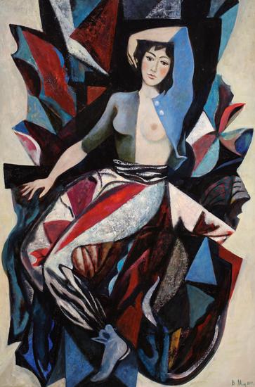 薇拉·安德烈耶夫娜·梅尔尼科娃《舞者(中部)》120x80cm2010年
