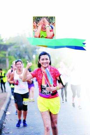 Selina10月19日在美国跑半马