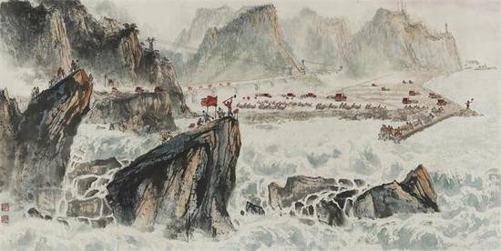 移山填海  1969年 70×139cm