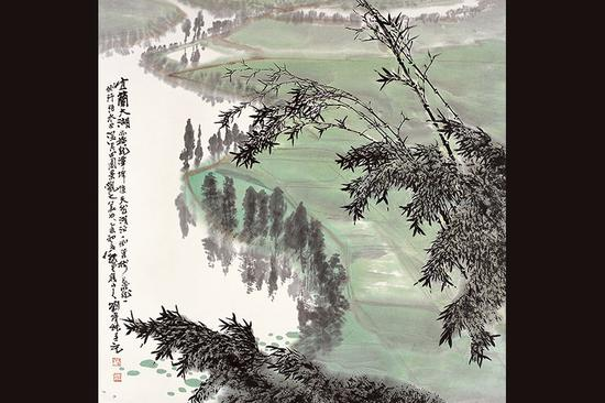 宜兰大湖 创作时间:1996年 尺寸:68cmx68cm