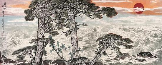 东方红 1991年 200×400cm