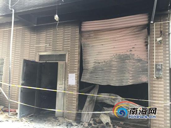 发生火灾的七层楼房。南海网记者 高鹏 摄