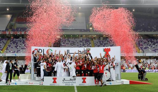 2013-2014赛季,迪拜阿赫利夺得阿联酋国内联赛冠军