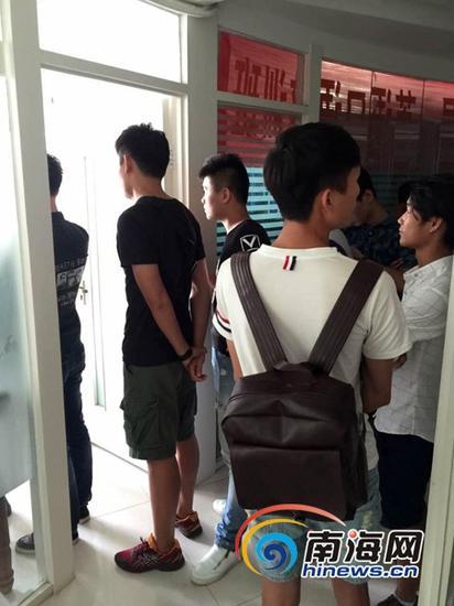 图为招募现场。南海网记者陈丽娜摄