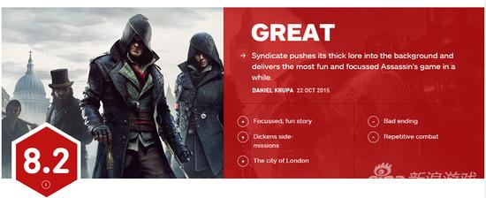 IGN评分8.2,高于前作《大革命》