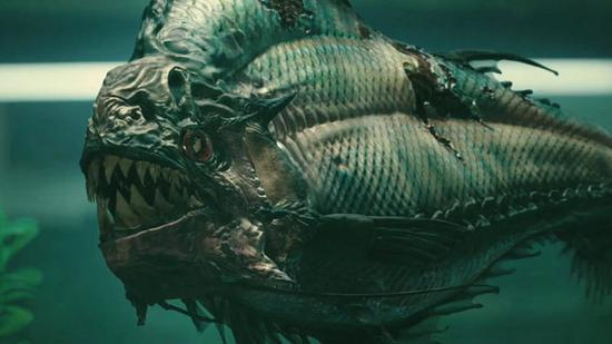 电影《食人鱼3D》中的史前食人鱼