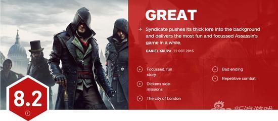 刺客信条:枭雄IGN评价