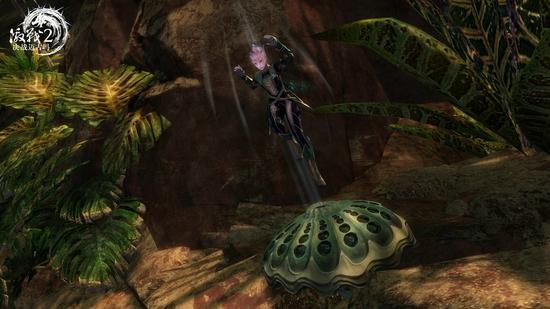 图8:使用蘑菇弹跳
