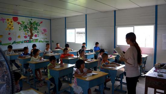 孩子们在上课