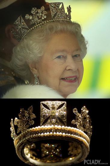 英女王的帝国王冠图片