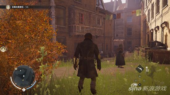 本作设定在秋天,暗黄的落叶为平民窟再填了一份萧瑟