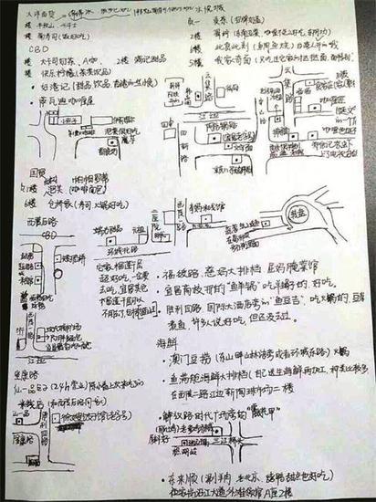 宜昌网友手绘美食地图 粉丝赞其太有才(图)