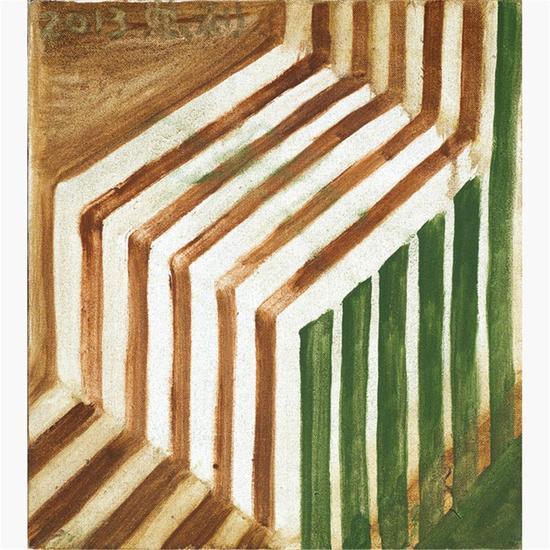 张恩利 (中国 1965年生) 《局部》油彩画布 2013年。 30万落槌
