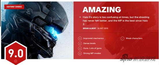 IGN给《光环5》打出了9分(满分10分)的高分