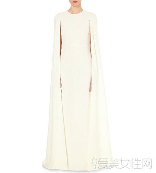 Valentino斗篷式白裙 $3456