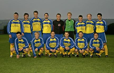 2007年在业余球队的瓦尔迪(后排从右数第三人)