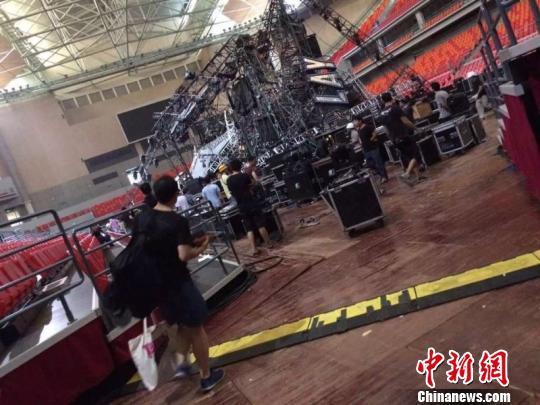 蔡依林演唱会在建舞台坍塌