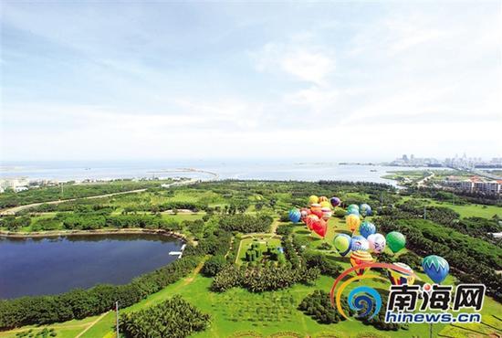 海口万绿园。